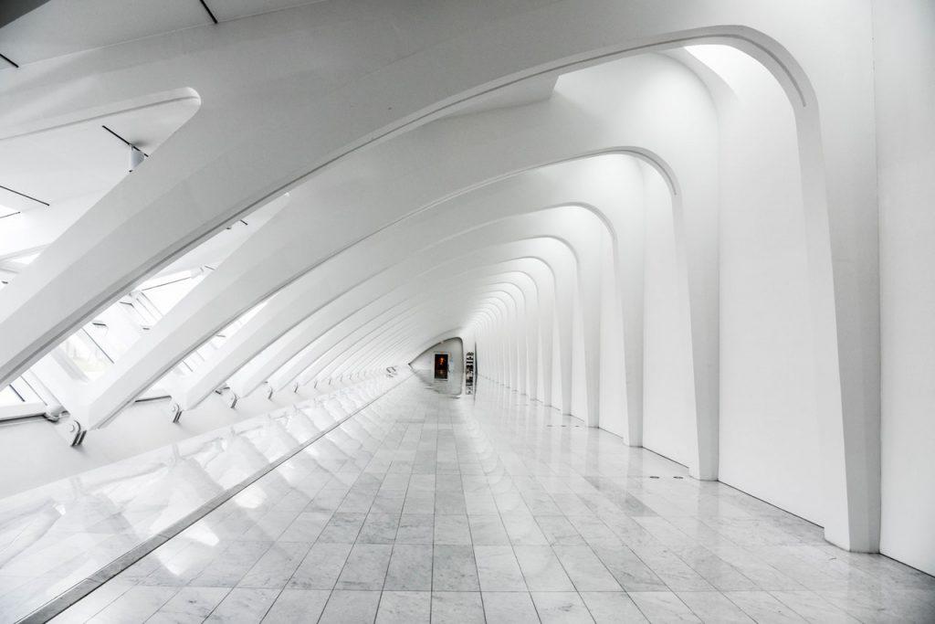 White fancy hallway