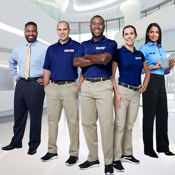 JAN-PRO employees in their uniform