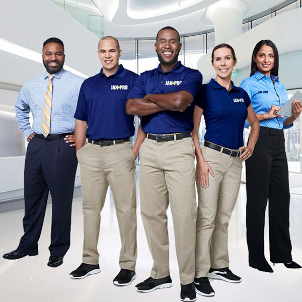 JAN-PRO employees in their uniform