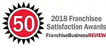 2018 Franchisee Satisfaction award badge