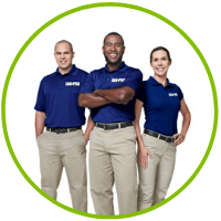 JAN-PRO professional cleaning team in uniform